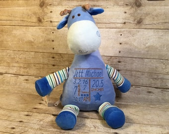 Personalized Baby Cubbie Giraffe Cubbie Baby Embroidered Cubbies Stuffed Animal Personalized Stuffed Animal Baptism Gift Birth Announcement