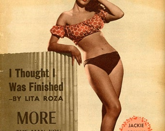 Picturegoer British Film-Movie Magazine  1956  Jackie Collins Cover , Yes that Jackie Collins  Other Stars and Models