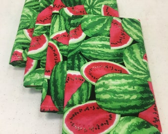 Watermelon Patch (4) Cloth Dinner Napkins
