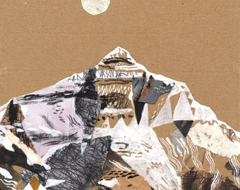 Illustrated art print Mountain art Everest A3 Print (11.69 in x 16.54 in)