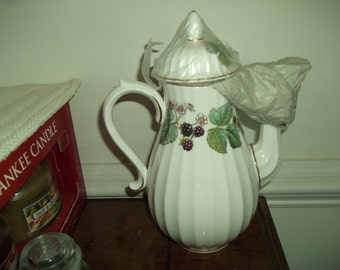 Royal Worcester Coffee Pot - Lavinia - White Background.