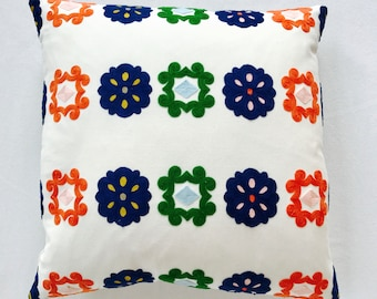 Wool Embroidery Pillow