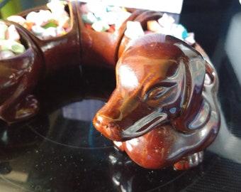 Vintage Dachshund / Weiner Dog Candy Dish from Japan