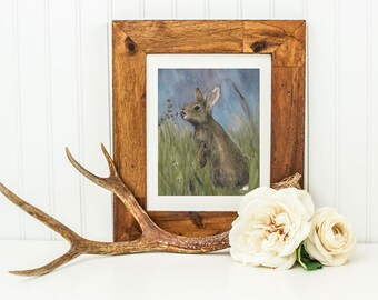 Cottontail- Archival Quality Mounted and Signed Fine Art Print
