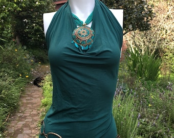Veluna tango dress - emerald teal