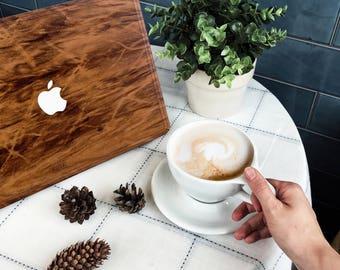 Macbook Wood Case for Mac Air Pro 11 12 13 15 inch - Imbuia Wood Mac book Case - Mac Skin - Mac Sticker - Mac Cover - Mac Case - Mac Decal