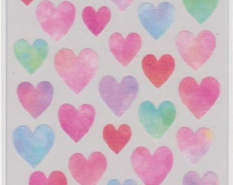 Heart Stickers - Masking Seal - Mind Wave - Reference S5732-34