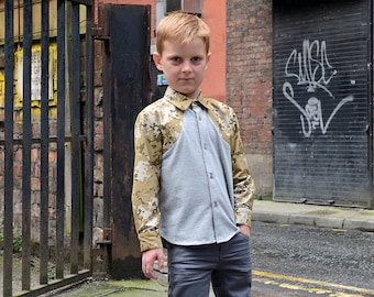 Boys Pattern - Weller Shirt PDF Pattern and Tutorial. Make this in sizes 12M to 12Y.
