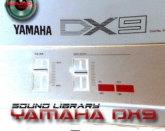YAMAHA DX9 HUGE Original Factory & New Created Sound Library/Editors on CD or for download