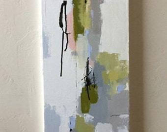 RESERVED  abstract painting 12x36  abstract modern art contemporary design original art painting pamela munger