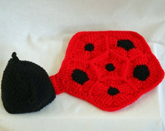 Crochet Lady Bug Photo Prop