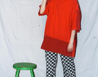 Vintage Oversized Red T-shirt