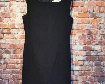 80's Classic Black Dress, Perfect Fit Size 4,
