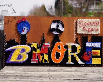 The Ultimate Baltimore String Art - Baltimore Wall Art / Baltimore Skyline / Maryland Gifts / Baltimore Decor