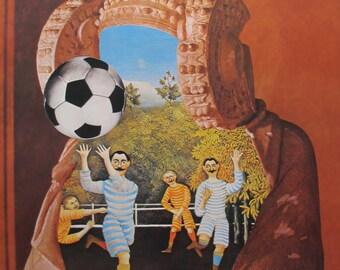 1982 Original Soccer World Cup, Elche, Jiri Kolar - 1980s Football Gifts For Him, Sports Decor, Soccer Art
