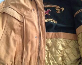 Vintage Sea Dream Leather Bomber Style Jacket