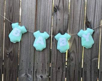 Baby Shower Banner - Baby Boy- Baby Shower Decoration - Baby Announcement - Baby Boy Announcement - Nursery Decor - Blue baby shower