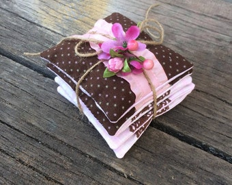 Set 5 Lavender sachets Lavender bags decorative bag smell of lavender natural herbs in bag of flax Soothing collection relaxation Freshener