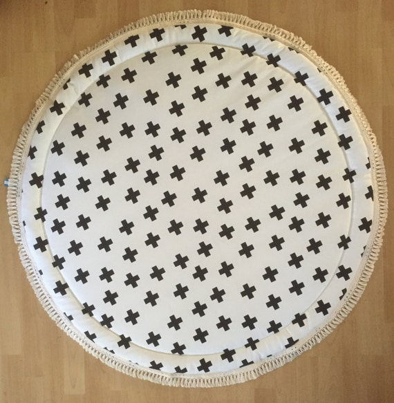 Round Padded Baby Play Mat Swiss Cross Baby Roundies Round Rug