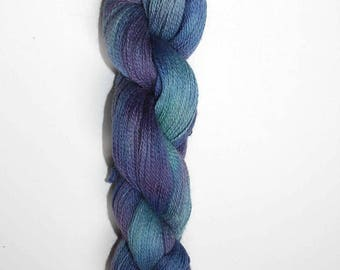 Apogee Hand Dyed Laceweight Yarn, Baby Alpaca--Iris colorway