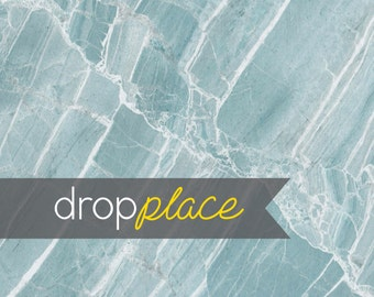 Backdrop  Marble Blue Teal Abstract Background Floor Drop Photo Prop Wedding, Newborn,  (Multiple Sizes Available)(M)
