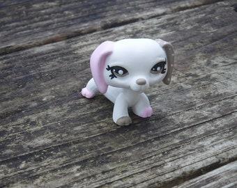 Littlest Pet Shop Custom OOAK LPS Dachshund White+Pink+Brown+Dots