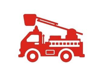stickers camion de pompier pour chambre d'enfant