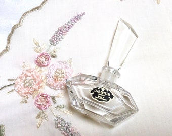 Vintage Crystal Perfume Bottle, Handcut Lead Crystal, Made in West Germany, Beautiful Cut Crystal, Great Mother's Day Gift