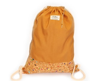 Ochos | Mustard Cork Sack Bag