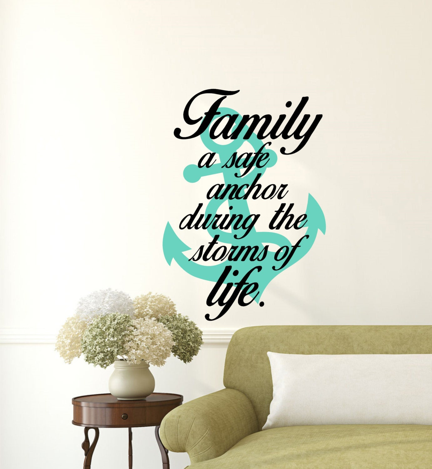 Family A Safe Anchor During The Storms Of Life Wall Decal
