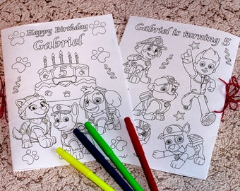 Personalized PAW Patrol coloring, activity book, PDF
