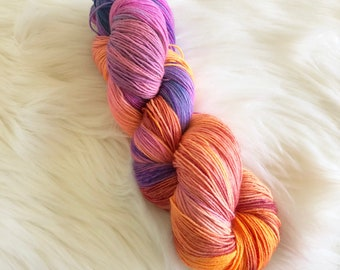 Remember Me Hand Dyed Fingering Weight Yarn for Knitting and Crochet