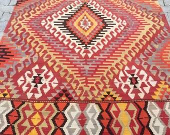 Vintage Turkish Rug Carpet Free Shipping