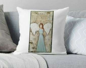 Square Pillow, Angel, Faith