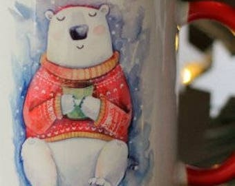Cups with emotional author's illustrations.