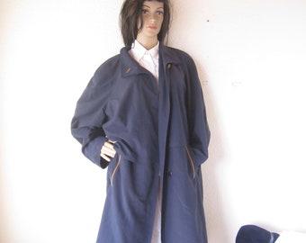 Vintage 80s trench coat Hensel & Mortensen Berlin oversize