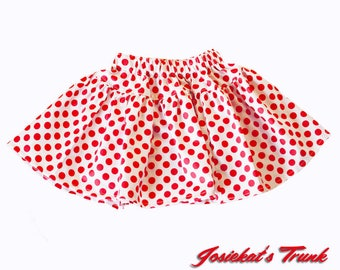 Red Dot Skirt GIrl - Red White Polka Dot Skirt - Lipstick Dot Skirt - SALE Skirt Girls Size 4T 4 -  Ready to Ship - Twirl Red Dot Skirt Sale