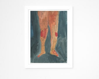 Original Faye Moorhouse Painting || LEGS ELEVEN 007