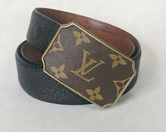 Choice of Rectangular or circular shaped repurposed LV belt buckle