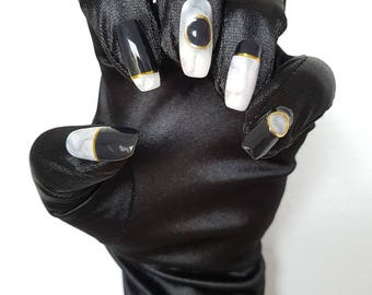 Short Coffin Nail Gloves