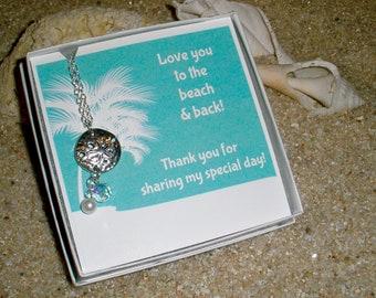 Bridesmaid Starfish Necklaces, Bridesmaid Jewelry, Gift for Bridesmaids, Beach Wedding, Bridesmaid Necklaces, Free Shipping Bridesmaid Gift