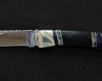 Buck 110 Custom Made Hunting Folding knife one of the most Beuatiful 110's ever made BLADE Art by Renwa