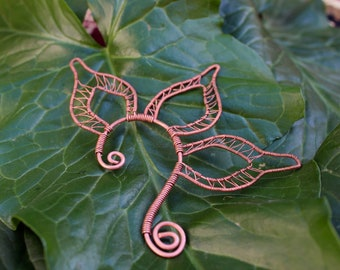Copper Wire Wrap Ear Cuff | Elf Ear