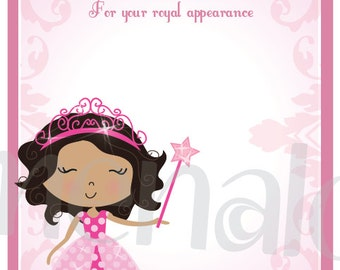 Pink Princess - DIY Thank You Card