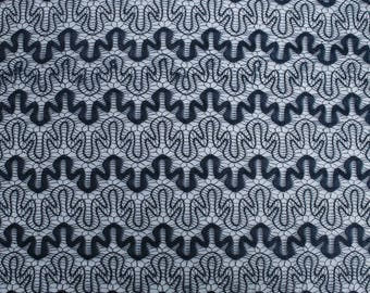 Navy Art Puzzle Lace Fabric by the Yard - Style 261