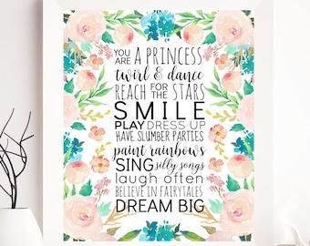 Girl nursery; Girl Printable, Girl Print, Nursery Girl wall decor, nursery girl wall art, nursery girl gift, girl decor, cute print, girls