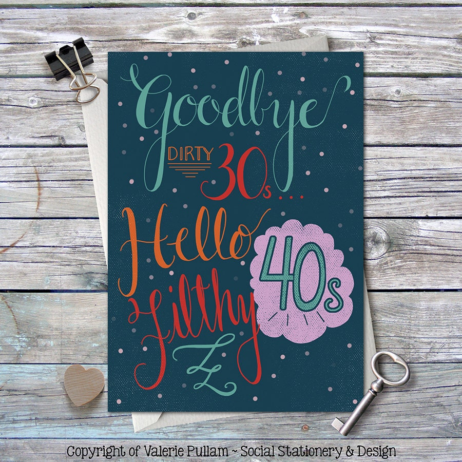 Milestone birthday greeting card funny b day card goodbye zoom kristyandbryce Image collections