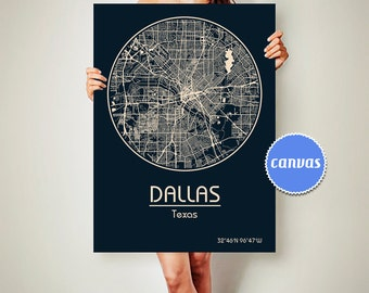 DALLAS Texas Map Dallas Poster City Map Dallas Texas Art Print Dallas Texas poster Dallas Texas map art Poster Dallas Texas street map