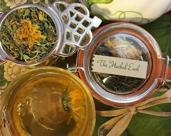 The Herbal Earl Grey Loose Leaf Tea in Glass Hermes Clamp Jar Earl Gray