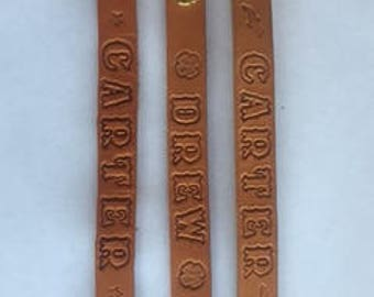 Personalized Leather Bands